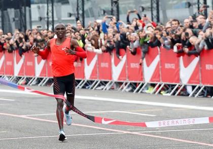 Nike Breaking2 2017 Kipchoge arrivo